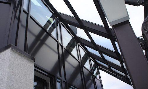 Jumta alumīnija- stikla konstrukcijas
